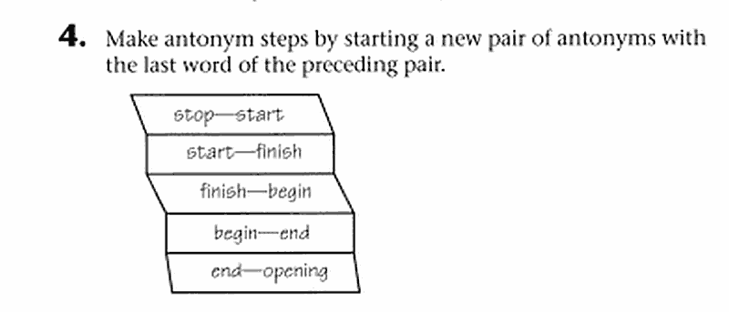 Vocabulary puzzle - Antonym Paths