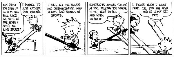 Calvin and sports