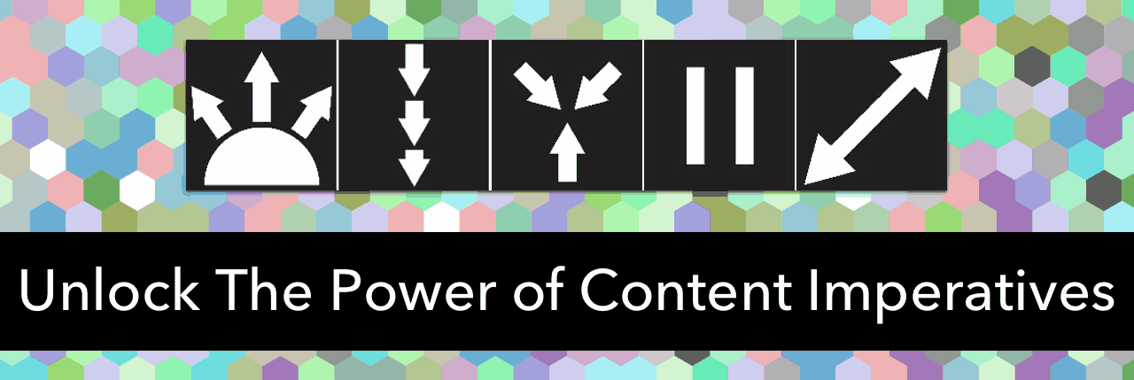 Combing content imperatives and depth and complexity