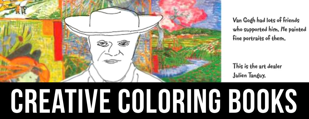 A collection of creative coloring books.