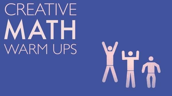 Three quick, creative math warmups to encourage divergent thinking.