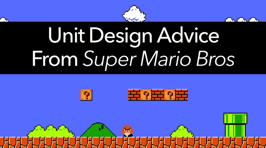 How to design a unit, from Super Mario Bros' creator