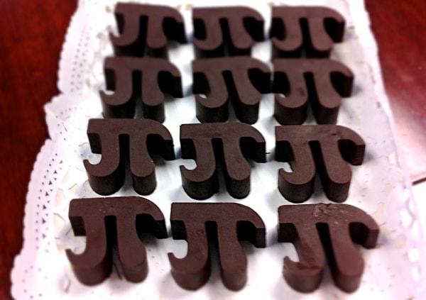 Pi chocolate