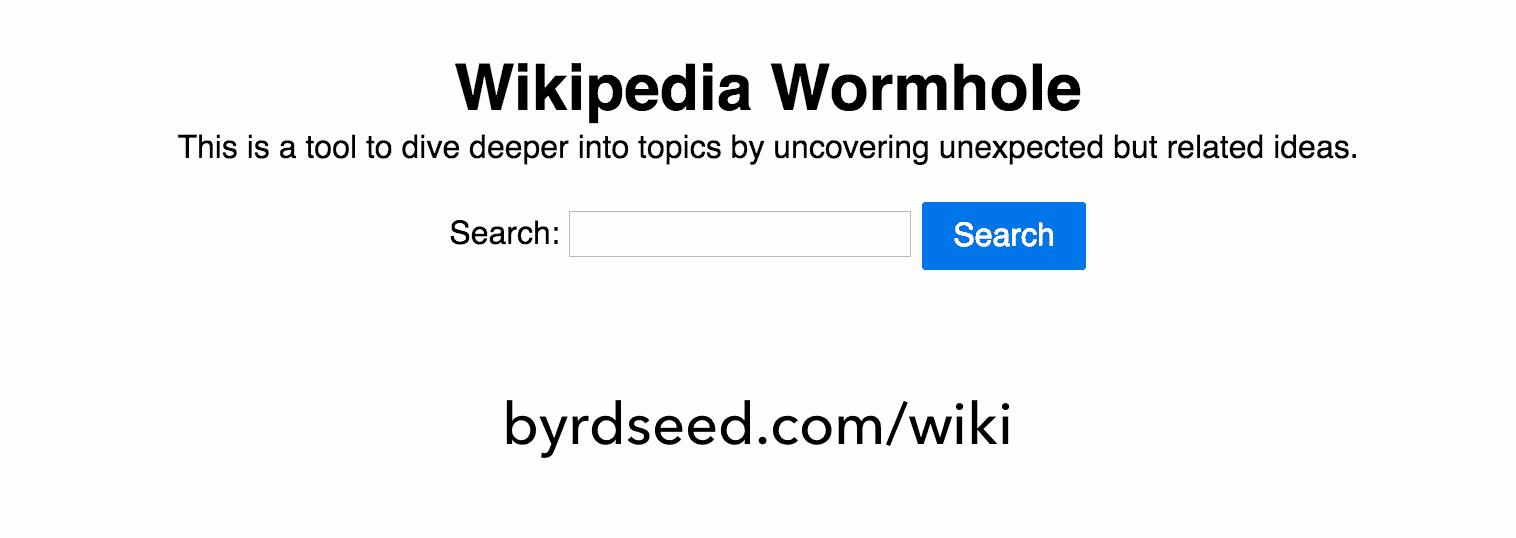 Wikipedia Wormhole